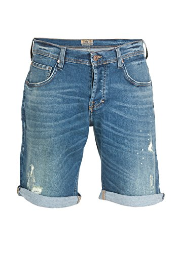 Mustang Herren Jeans Short Chicago - Blau - Denim Blue, Größe:W 30, Farbe:Denim Blue (883)