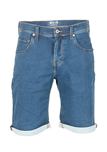 Mustang Herren Jeans Short Chicago - Blue Denim (680); W 33