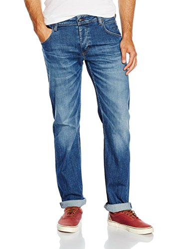 Mustang Herren Jeanshose Michigan Straight, Blau (Light Scratched Used 583), W31/L32
