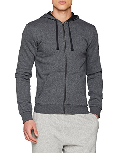 adidas Herren Essentials Base Full-Zip Hoodie, Dark Grey Heather, L