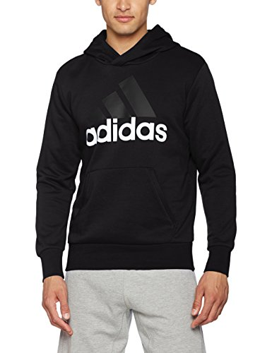 adidas Herren Essentials Linear Pullover Hood French Terry Kapuzenpullover, Black/White, XS