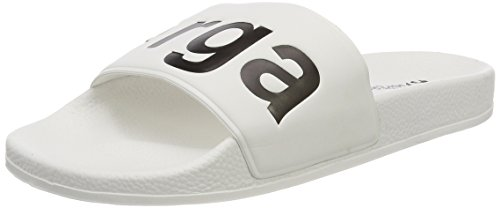 Superga Unisex-Erwachsene Slides PVC Slipper, Weiß (White-Black), 39 EU