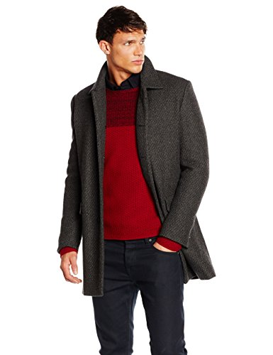 BOSS Casual Herren Mantel Bodhy, Grau (Medium Grey 039), Large (Herstellergröße: 52)