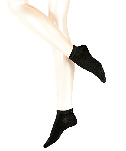 FALKE Damen Sneakersocken Shiny, Schwarz (Black 3000), 35/38