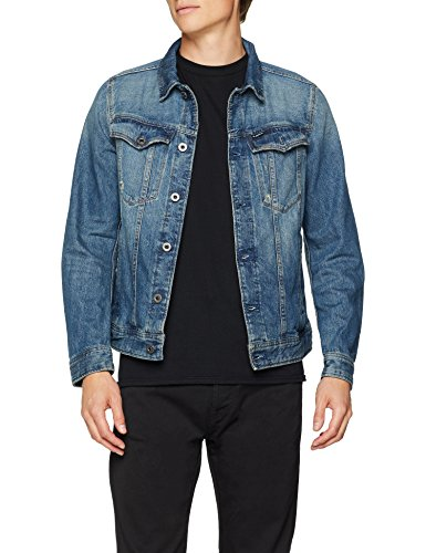 G-STAR RAW G-Star Herren Jeansjacke 3301 Deconstructed Slim Jkt, Blau (Medium Aged 071), XX-Large