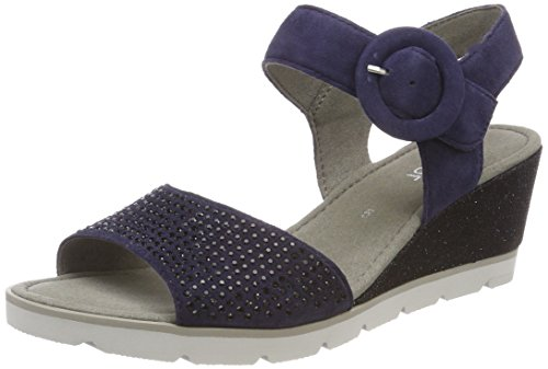 Gabor Shoes Damen Basic Riemchensandalen, Blau (Bluette), 41 EU