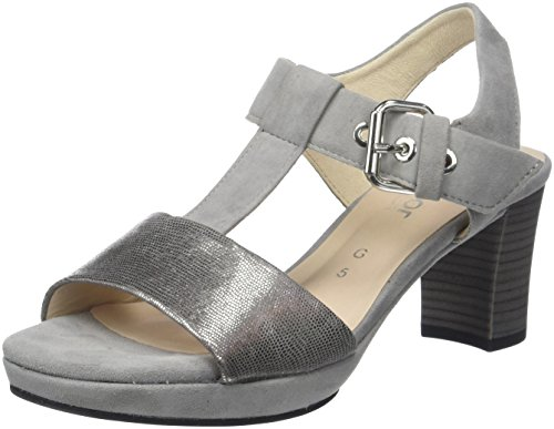 Gabor Shoes Damen Comfort Fashion Riemchensandalen, Grau (Grey/Grau), 38 EU