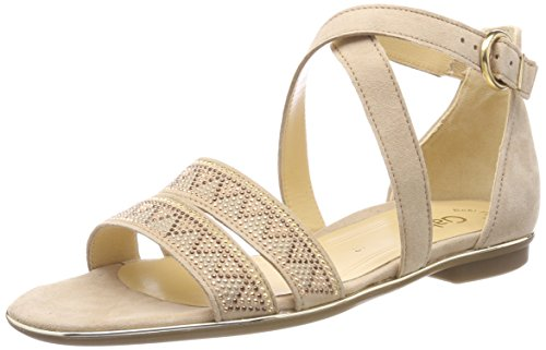 Gabor Shoes Damen Fashion Riemchensandalen, Beige (Camel), 38 EU