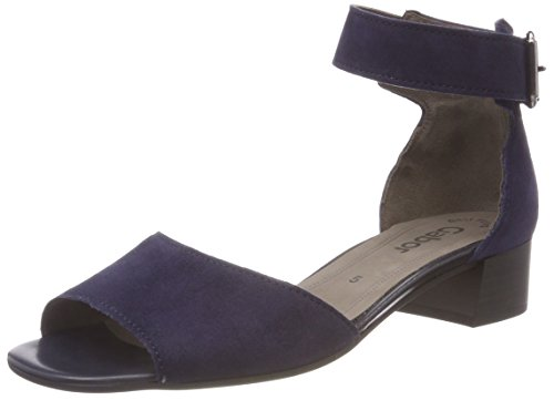 Gabor Shoes Damen Fashion Riemchensandalen, Blau (Bluette), 39 EU