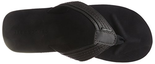 JACK & JONES Herren Jfwbob Leather Sandal Anthracite Zehentrenner, Grau (Anthracite), 44 EU