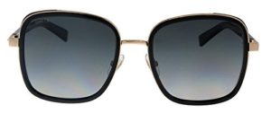 Jimmy Choo Damen Sonnenbrille Elva/S 9O 2M2, Schwarz (Black Gold/Brown), 54