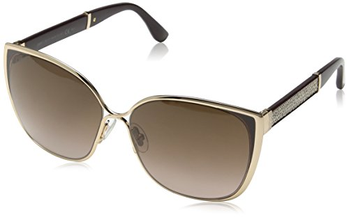 Jimmy Choo Damen Sonnenbrille Maty/S V6 17C, Gold (Gdbw Glitter/Brown Sf), 58