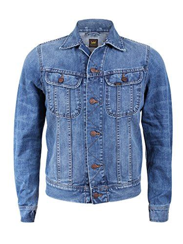 Lee Herren Jeansjacke Rider - Slim Fit, Größe:XL, Farbe:True Authentic (HX)