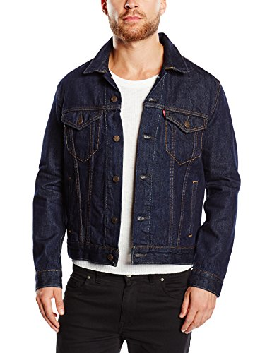 Levi's Herren Jacke The Trucker, Medium, Blau (Rinse Trucker)