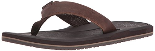 Reef Herren Machado Night Brown Zehentrenner, Braun (Brown Bro), 45 EU