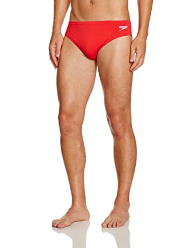 Speedo Herren Badehose Essential Endurance plus 7 cm Sportsbrief, Fed Red, 7, 8-0835464467