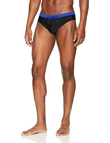 Speedo Herren Contrast 7c Brief, Black/Ultramarine, 36