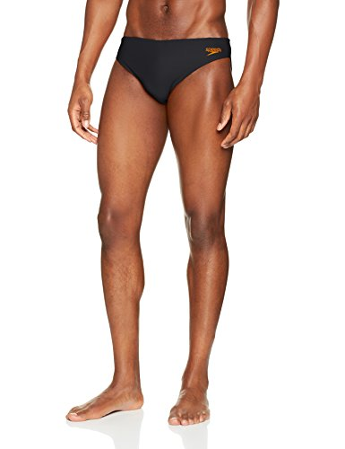 Speedo Herren 'Essential end10 Slip, Essential End10, Grau (Oxide Grey/Fluo Orange), 38/5 cm