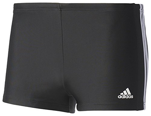 adidas Herren Essence Core 3 Stripes Badehose, Black/White, 10