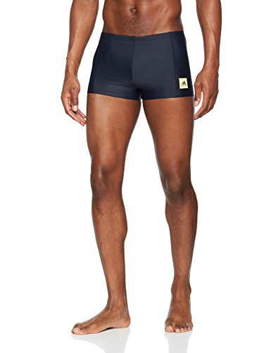 adidas Herren Fitness Boxer Solid Badehose, Legend Ink/Semi Frozen Yellow, 6