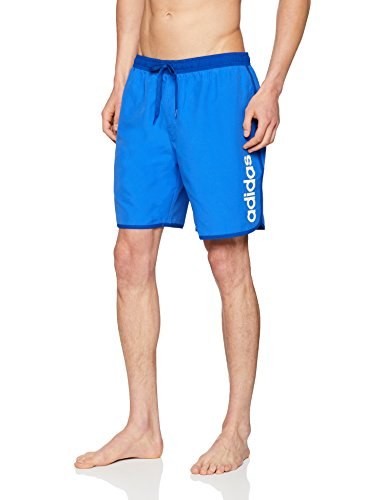 adidas Herren Lineage Mid Length Badeshorts, Hi-Res Blue/Collegiate Royal, S