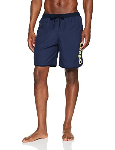 adidas Herren Lineage Split Mid Length Badeshorts, Trace Blue/Noble Ink, M