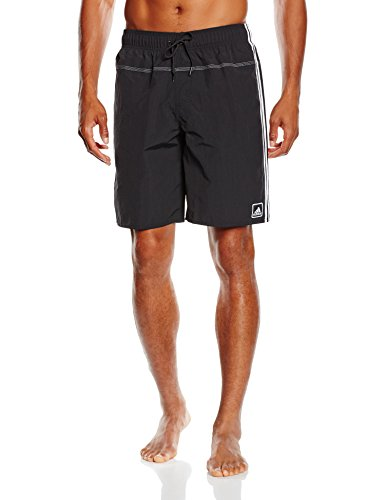 adidas Herren Shorts Badehose 3-Stripes Authentic Shorts, Schwarz/Weiß, M, F79204