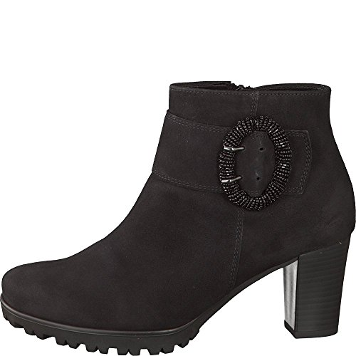 Gabor Winnie Damen High Heel Wildleder Schnalle Stiefeletten 6 UK/ 39 EU Schwarzes Wildleder