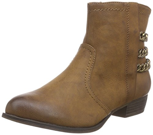 Rieker 92663, Damen Halbschaft Stiefel, Braun (brandy/24), 41 EU (7.5 Damen UK)