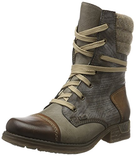 Rieker Damen 79631 Kurzschaft Stiefel, Braun (Brandy/Iron/Cigar/Wood / 25), 38 EU