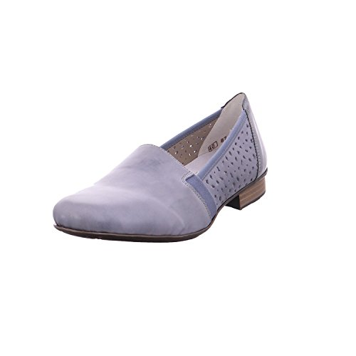 Rieker Damen Pumps Slipper Halbschuh Eleganter Boden 51995-12 Blau 244057
