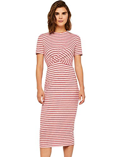 FIND Damen Kleid Rib Twist Front Dress