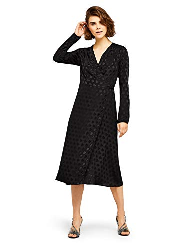 FIND Damen Partykleid Jacquard Wrap Dress