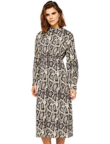 FIND Damen Snake Print midi Dress