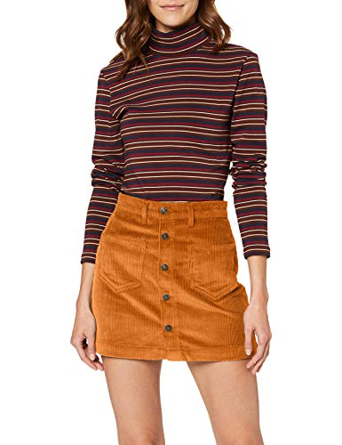 ONLY Damen Onlamazing Hw Corduroy Skirt PNT Noos Rock